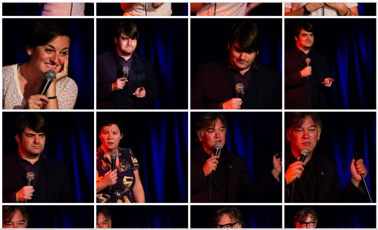 Photos from Charity Chuckle 8 July 2014 by Ed More of Zoe Lyons, Julie Jepson, Jim Holland and Stewart Lee