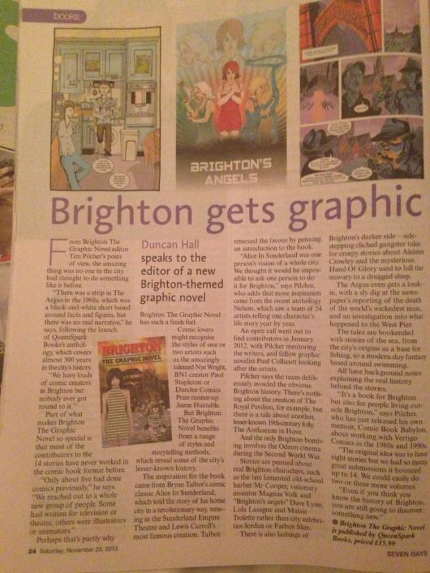 Argus article on Brighton the graphic novel