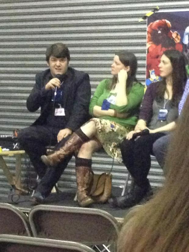 talking at comic con